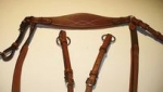 Antares Leather Breastplate w/ Detachable Martingale