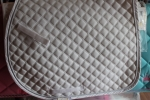 All purpose saddle Pad with white braid